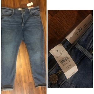Brand New Loft Jeans Size 14-Curvy Crop Fit